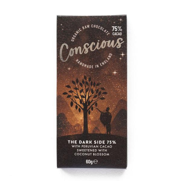 Dark Side 75% Chocolate Bar Vegan, ORGANIC