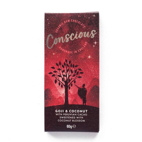 Goji & Coconut Chocolate Bar Vegan, ORGANIC