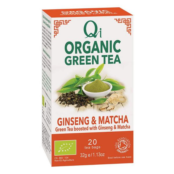 Ginseng & Matcha Green Tea FairTrade, ORGANIC