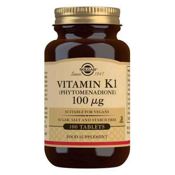 Vitamin K 100ug Natural Gluten Free, salt free, sugar free, Vegan