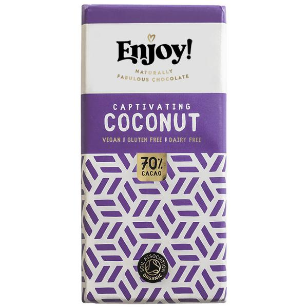 Coconut Chocolate Bar Gluten Free, Vegan, ORGANIC