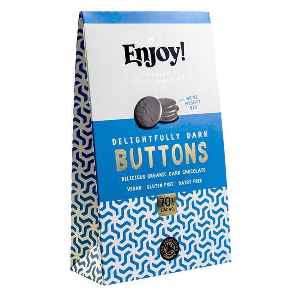 Dark Chocolate Buttons Gluten Free, Vegan, ORGANIC