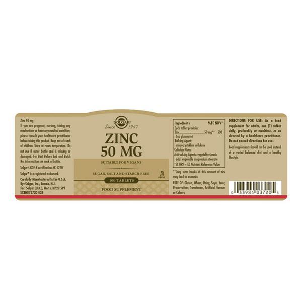 Zinc Mineral 50mg  image 2