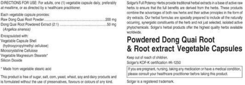 Dong Quai Full Potency Herbal Product Vegan image 2