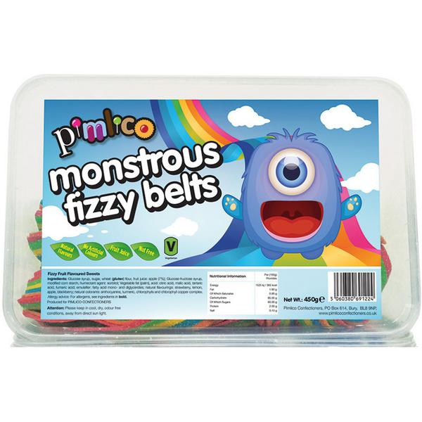 Monstrous Fizzy Belts Snack Vegan