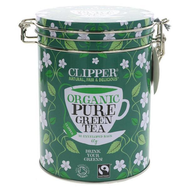 Green Tea Tinned Caddy FairTrade, ORGANIC