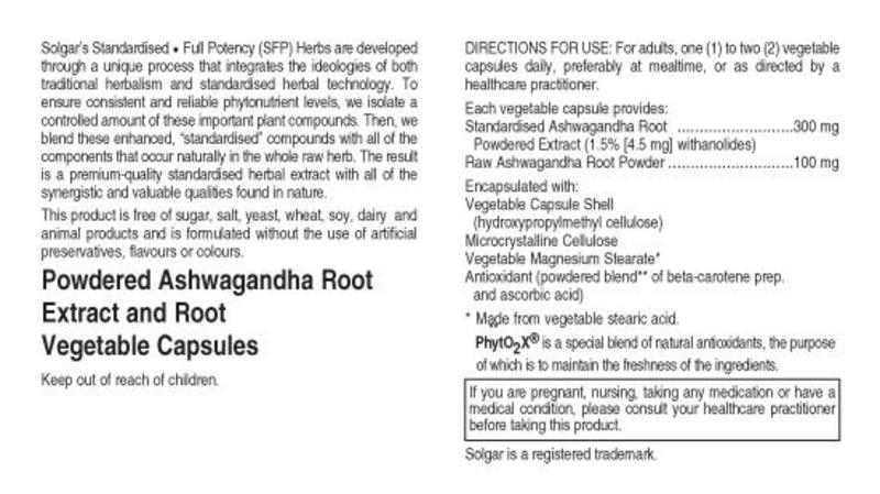 Ashwagandha Standardised Full Potency Herbal Product  image 2