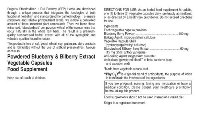Bilberry Standardised Full Potency Extract With Blueberry  image 2