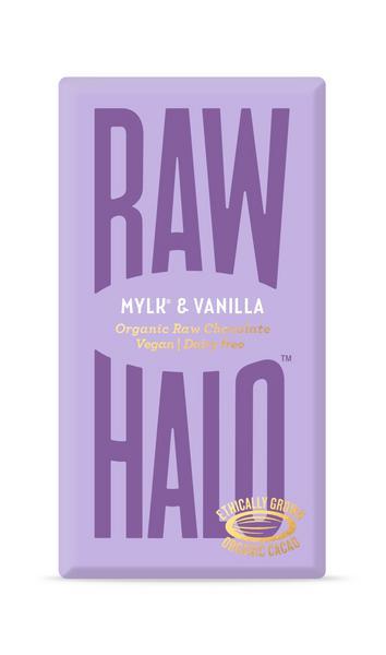 Mylk & Vanilla 52% Raw Chocolate Vegan, ORGANIC