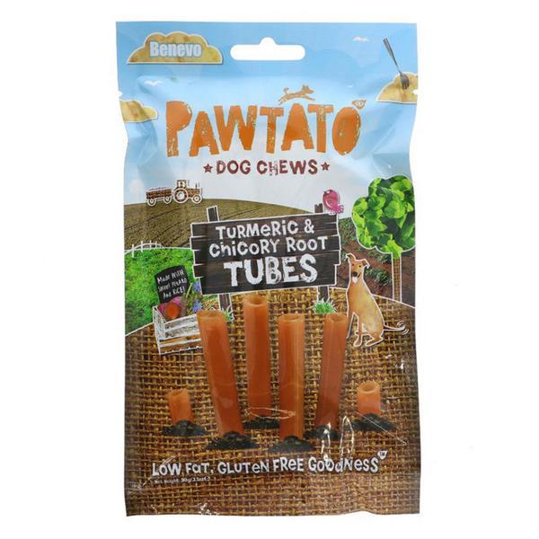 Turmeric & Chicory Root Tubes Dog Treats Gluten Free, Vegan