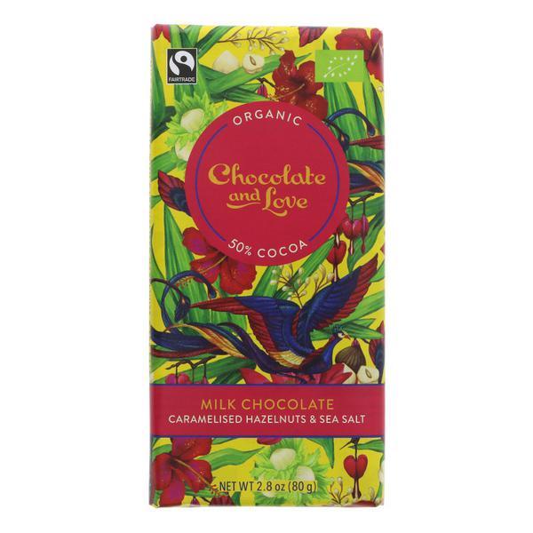 Caramelised Hazelnuts & Sea Salt Milk Chocolate ORGANIC