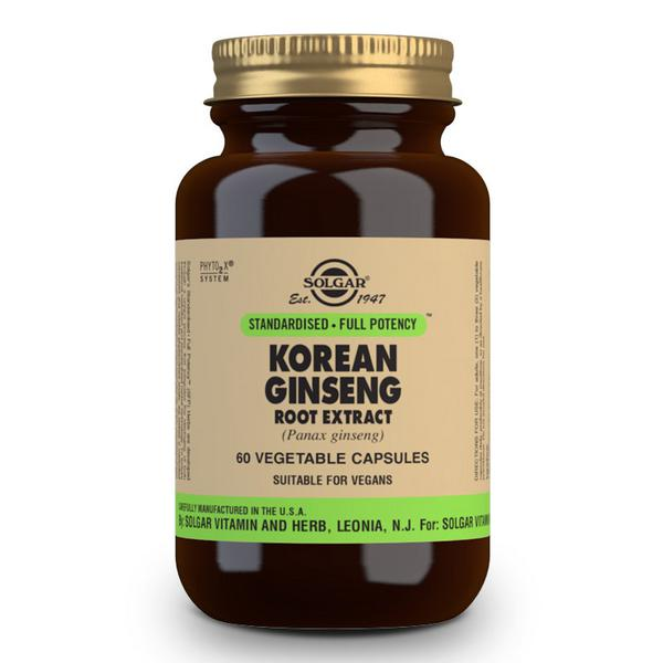 Korean Ginseng Standardised Full Potency Herbal Product