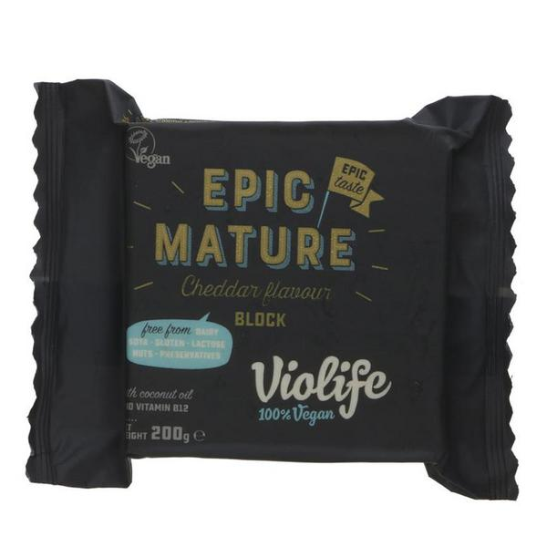 Epic Mature Cheddar Cheese Gluten Free, Vegan