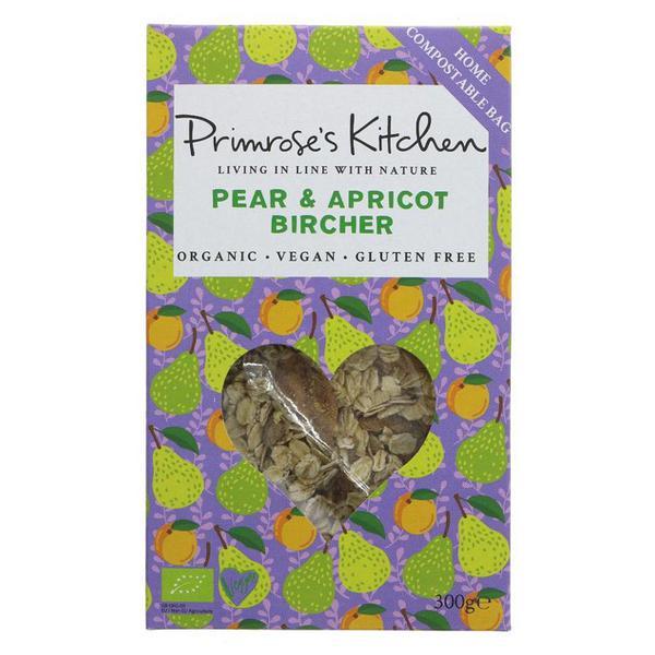 Pear & Apricot Bircher Muesli Gluten Free, Vegan, ORGANIC