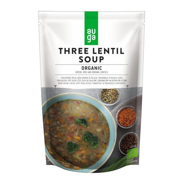 Three Lentil Soup Vegan, ORGANIC