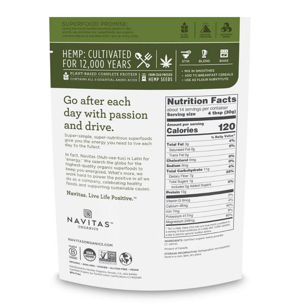 Hemp Protein Powder Gluten Free, Vegan, ORGANIC image 2