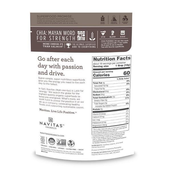 Chia Seeds Gluten Free, Vegan, ORGANIC image 2