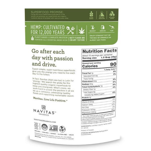 Hemp Seed Gluten Free, ORGANIC image 2