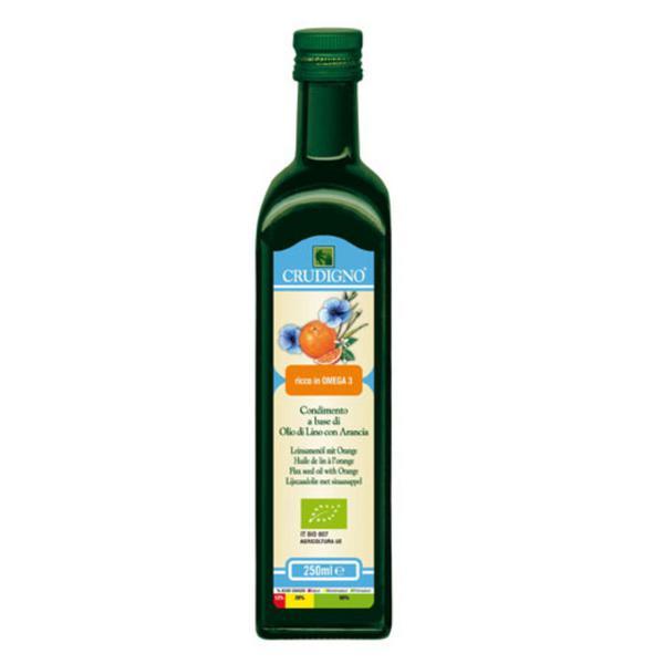 Cold Pressed Flaxseed Orange Vegan, ORGANIC