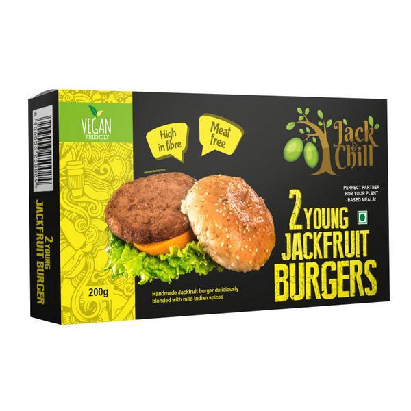 Young Jackfruit Burger Gluten Free, Vegan