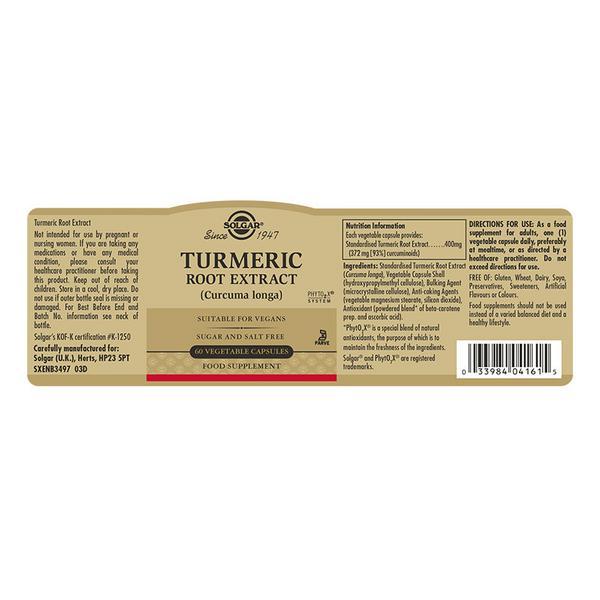 Turmeric Standardised Full Potency Herbal Product Vegan image 2