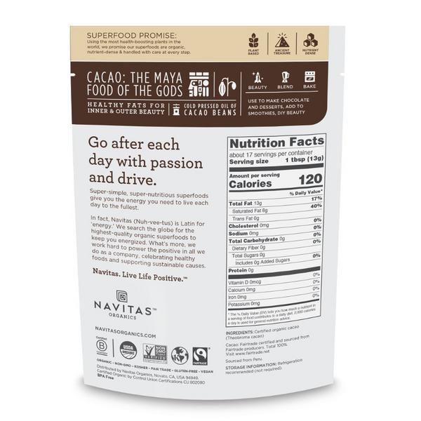 Cacao Butter Gluten Free, no added sugar, Vegan, FairTrade image 2