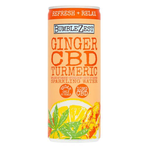 Ginger,CBD & Turmeric Sparkling Water