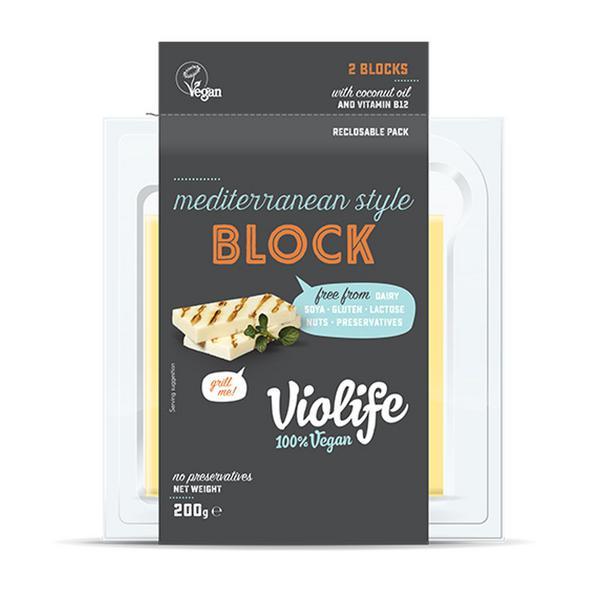Mediterranean Style Block Cheese Gluten Free, Vegan