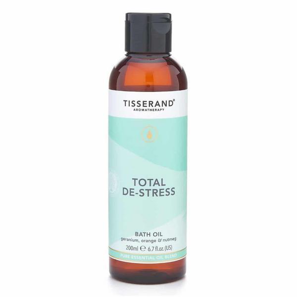 Total De-Stress Bath Oil Geranium,Orange & Nutmeg