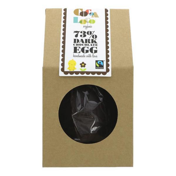 73% Dark Chocolate Easter Egg Vegan, FairTrade, ORGANIC