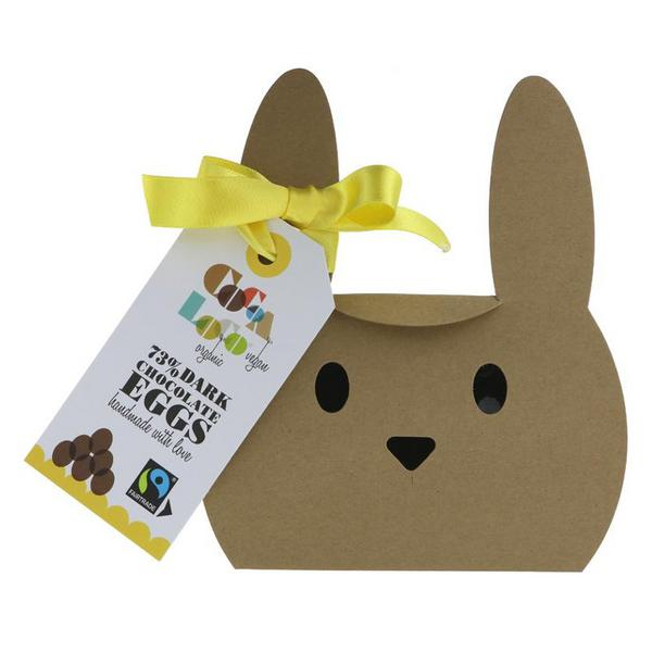 73% Dark Chocolate Mini Eggs Vegan, FairTrade, ORGANIC