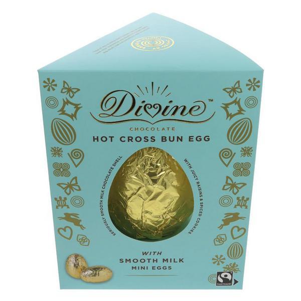 Hot Cross Bun Chocolate Easter Egg FairTrade