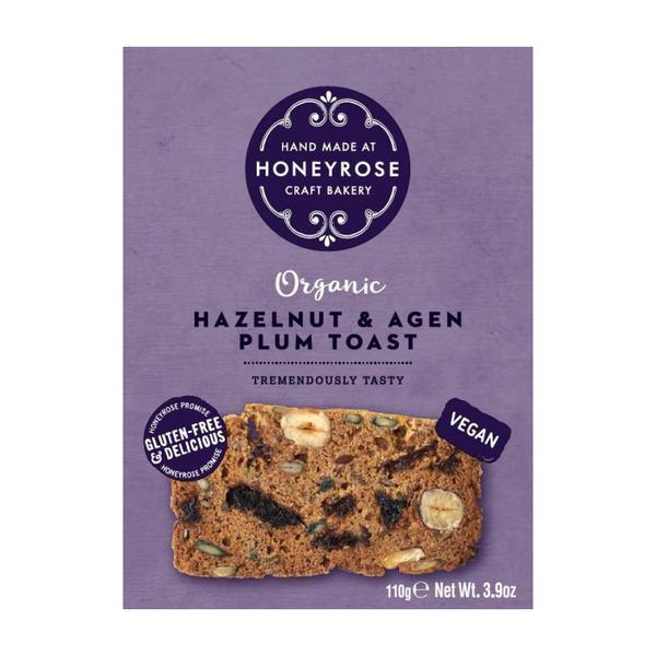 Hazelnut & Agen Plum Toast Gluten Free, Vegan, ORGANIC