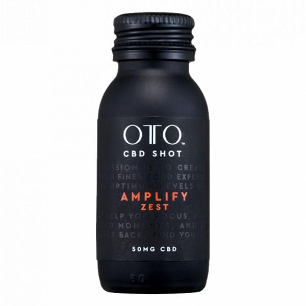 Amplify Zest 50mg CBD Shot sugar free, Vegan
