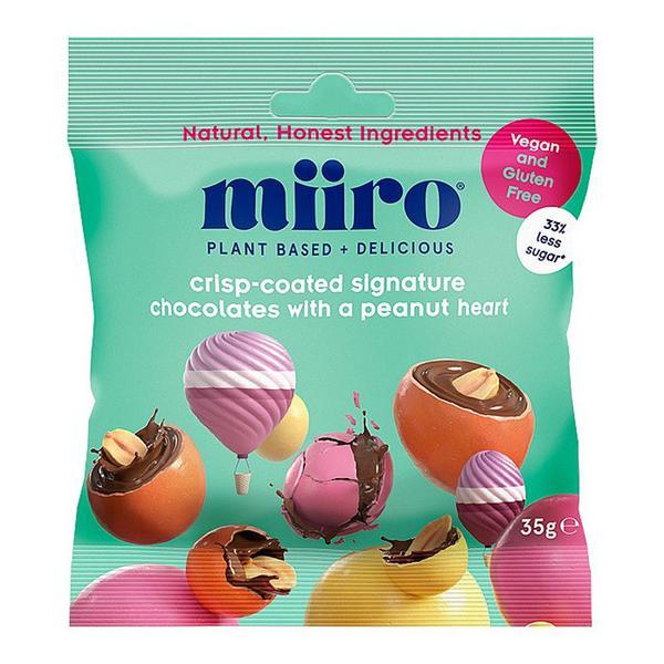 Crisp Coated Chocolates Peanut Heart Vegan