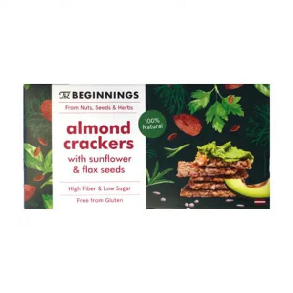 Almond,Sunflower & Flax Seed Crackers Gluten Free, Vegan