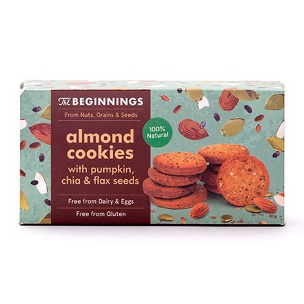 Almond & Seeds Cookies Gluten Free, Vegan
