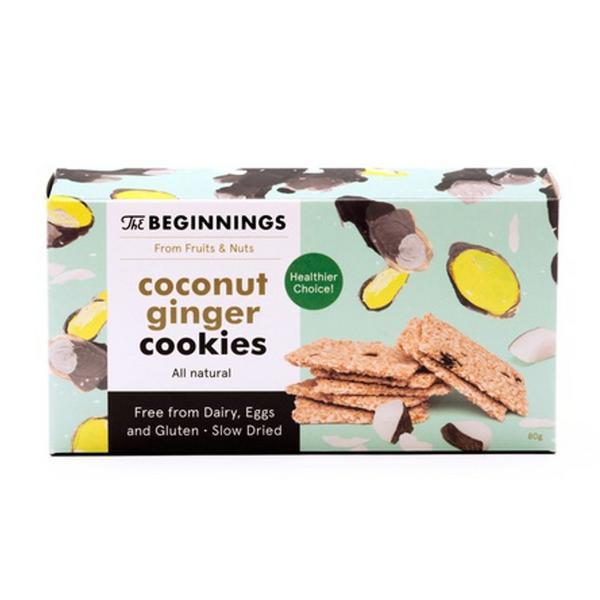 Coconut & Ginger Cookies Gluten Free, Vegan