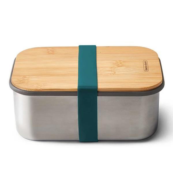 Large Stainless Steel Sandwich Box Ocean Blue Vegan