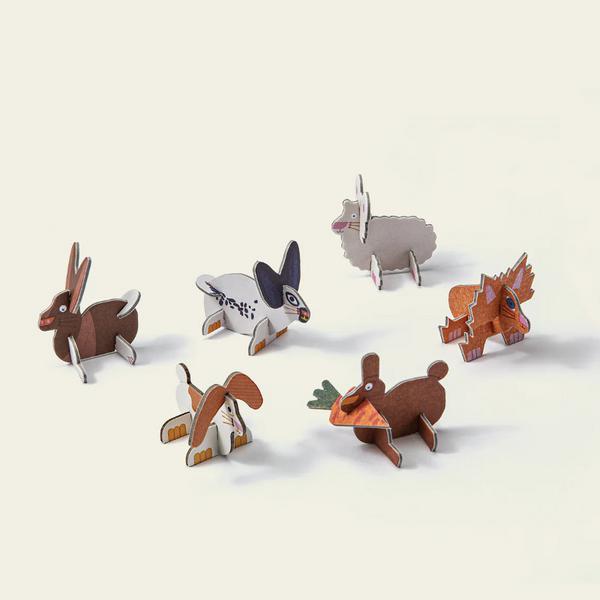 Chocolate Rabbit Toy Vegan, ORGANIC image 3