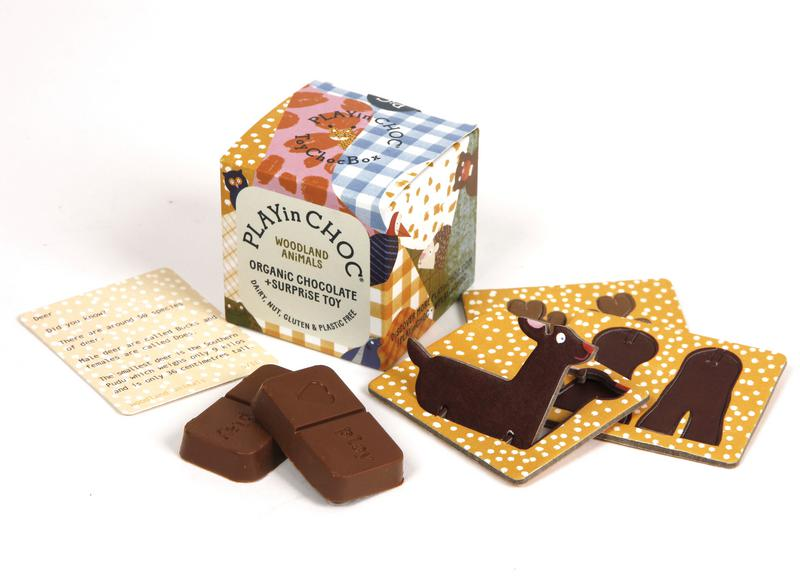 Woodland Animal Collection Chocolate ToyChocBox dairy free, Gluten Free, ORGANIC