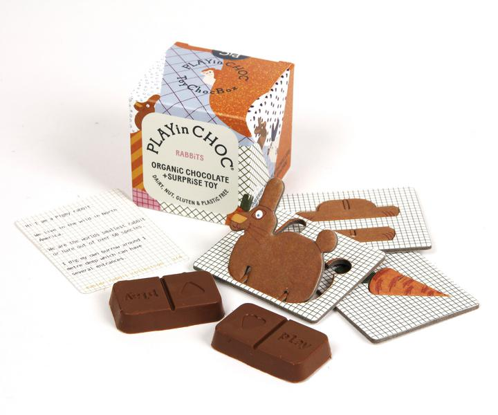 Rabbit Collection Chocolate ToyChocBox dairy free, Gluten Free, ORGANIC