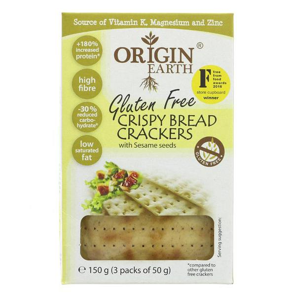 Crispy Bread Crackers With Sesame Seed Gluten Free, Vegan
