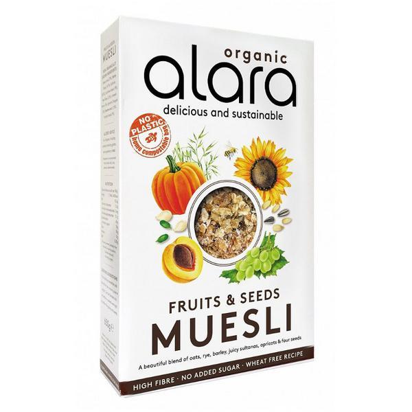Fruits & Seeds Muesli no sugar added, Vegan, ORGANIC
