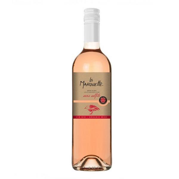 Sans Sulphate La Marouette Rose Wine Vegan, ORGANIC
