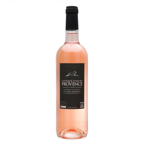 Coteaux D'Aix en Provence Rose Wine Roc des Seigneurs Vegan, ORGANIC