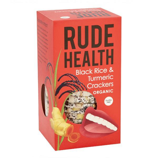 Black Rice & Turmeric Crackers Gluten Free, Vegan, ORGANIC