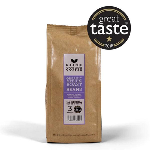 Medium Roast Beans Coffee La Sierra Cloud Forest Strength 3 Mexico ORGANIC