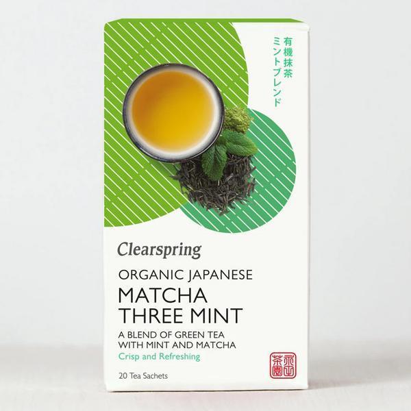 Japanese Matcha Three Mint Tea Vegan, ORGANIC