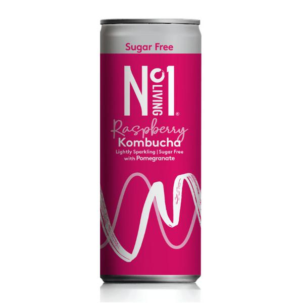 Raspberry & Pomegranate Kombucha sugar free, Vegan